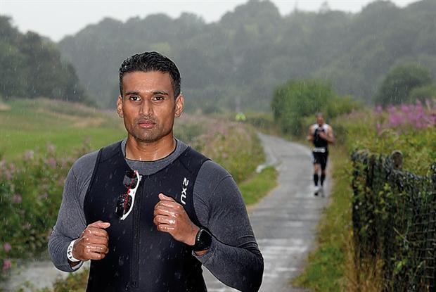 Dr Byran, who has arthritis, runs the Virgin London Marathon for Arthritis Research UK