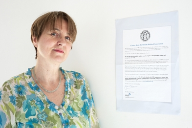 Dr Louise Irvine: prominent campaigner against government's NHS reforms