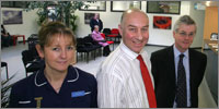Tracie Brettell, Dr Chris Perks and Dr James Rankin