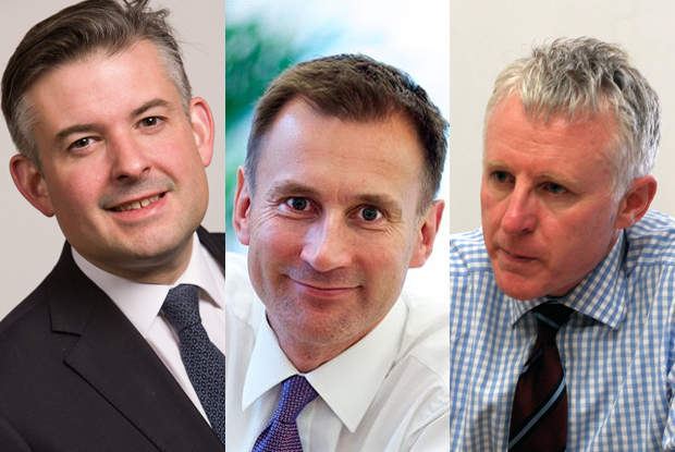 Political party health leaders: Labour's Jon Ashworth, Conservative Jeremy Hunt, Liberal Democrat Norman Lamb