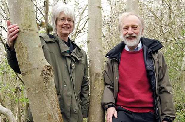 Betty: Edwards (left) and Downie at ash tree in Norfolk