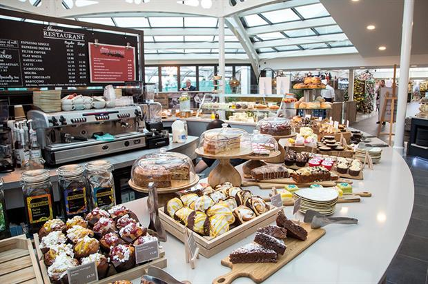 Catering: HTA research shows café sales growing by almost 10 per cent a year and most garden retailers are now offering food - image: Garsons Garden Centre