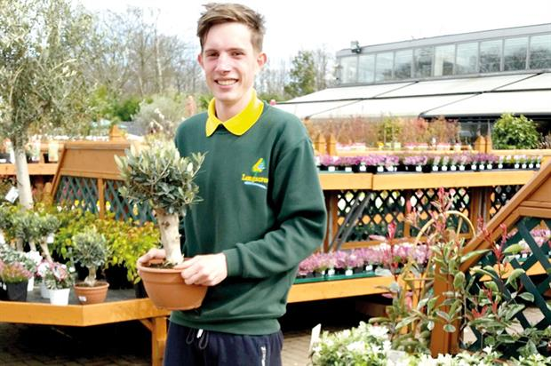 Poole: one of two apprentices taken on by Longacres and studying horticulture