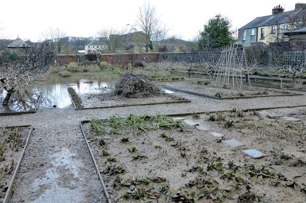 Wordsworth House: standing water left layer of sludge