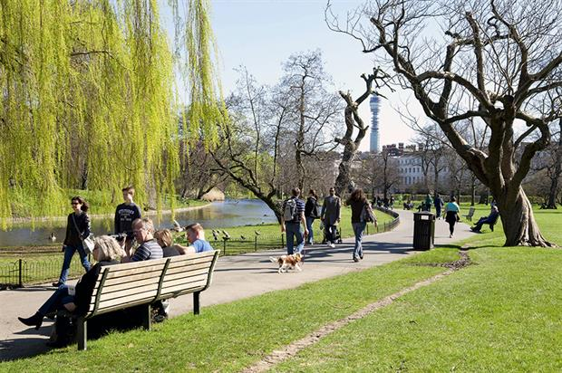 London parks:radical proposal. Image: The Royal Parks