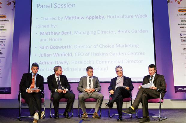 Panel discussion: e-commerce was the topic for debate at HTA Garden Futures conference held in Oxfordshire