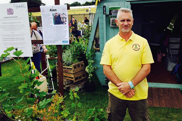 Marfleet: 'Allotmentality' garden at RHS Flower Show Tatton Park
