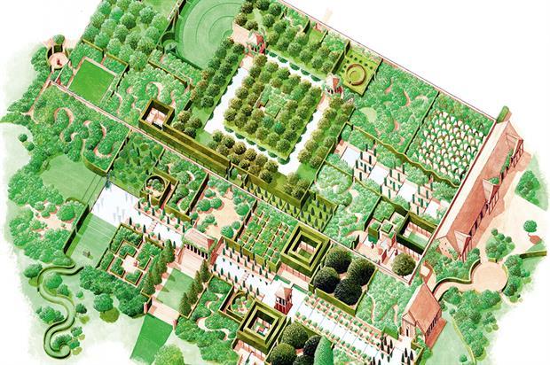 Wynyard Hall: rose garden plan
