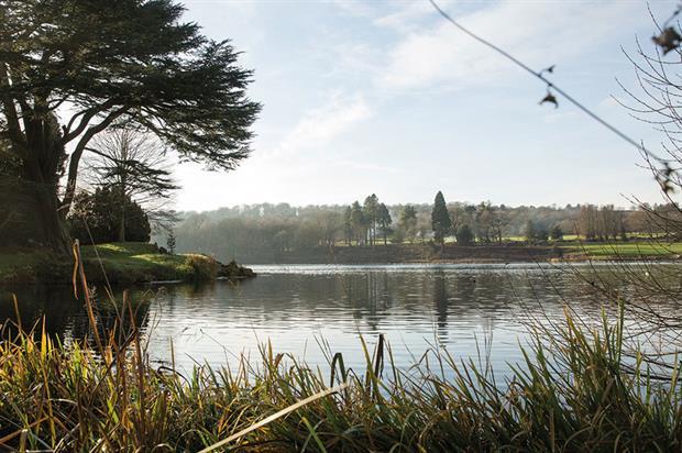 Trentham Estate: the main vista is centred around Capability Brown's visually arresting lake design - image: Trentham Estate