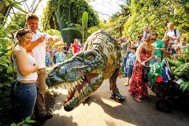 Eden Project: programme of events includes a 'live' dinosaur exhibition that proved to be highly popular last year - image: Eden Project
