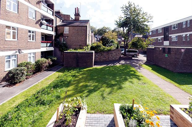 Richard Knight House: Benefits of SuDS Tool is being used in unique pilot project at three London housing estates - image: Groundwork