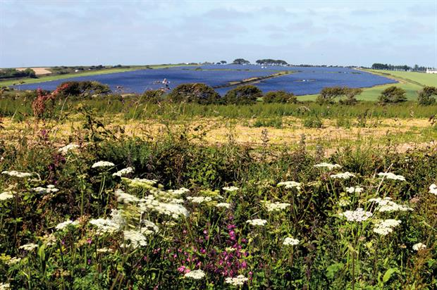 Solar farms: large numbers being pushed through before end of the financial year to take advantage of subsidies - image: LDA Design/Ben Osborne