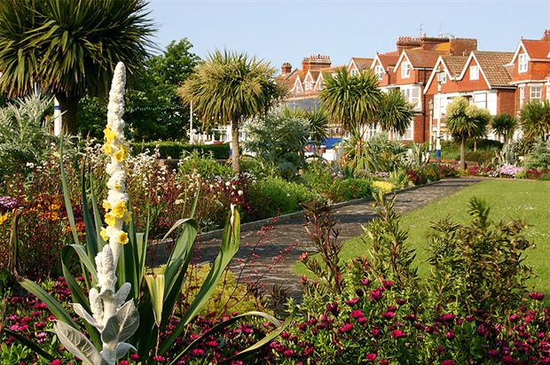 Eastbourne's tank enclosure: drought-tolerant trees and perennials give a mature Mediterranean feel. Image: Eastbourne Borough Council