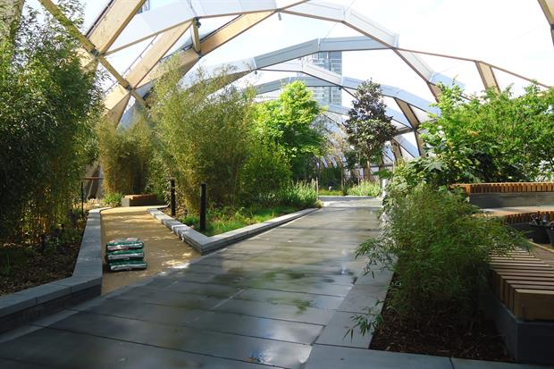 The sky garden at Canary Wharf cost millions to create and will lend amenity to local residents - image: Stephen Richards
