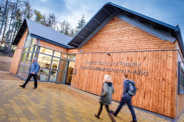 Forestry facility: offers practical training environment - image: UHI