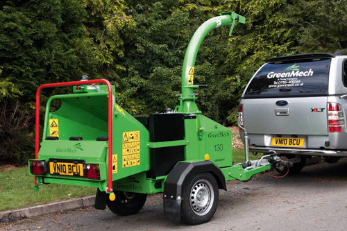 Arborist 130: 6in road-tow woodchipper powered by a 23hp Briggs & Stratton engine - image: Greenmech