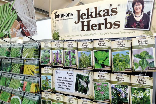 Jekka's Herbs: a new range of packet seeds launched by Mr Fothergill's last year - image: HW