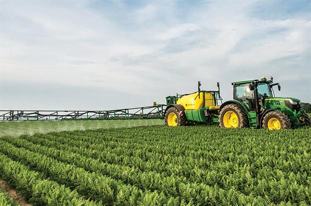 Crop protection: developing more products could make control easier while also offering potential to increase yields. Image Deere & Company