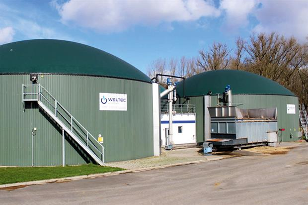 Gilfresh: biogas plant installed. Credit: WeltecBiopower