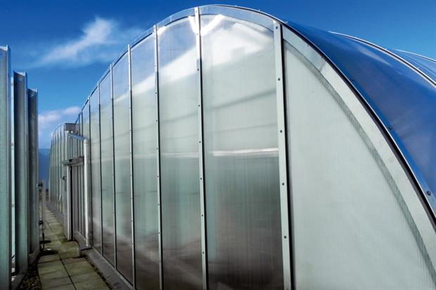 GroDome: University of Bristol greenhouse facility built on the roof of life sciences building offers views over city - image: HW