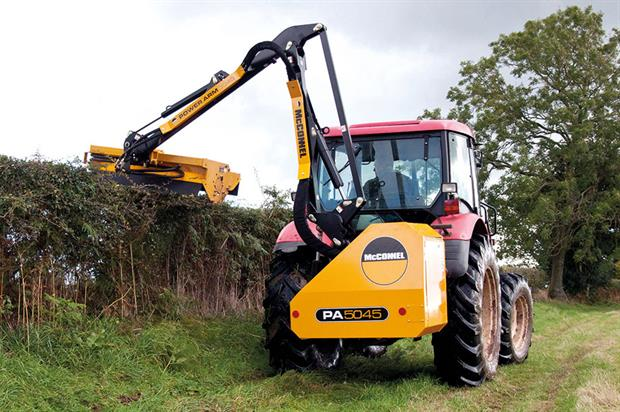Hedge trimmers: tractor-mounted flail options and handheld units for professionals - image: McConnell/HW/EGO Power+