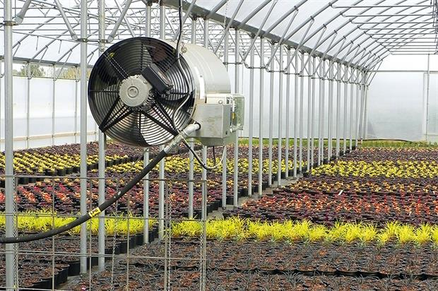 Fans: circulate air to reduce the difference in air temperature and moisture content
