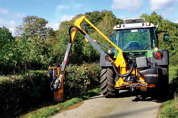Tractor-mounted flail: Wessex T500G works with cable controls or EP-Tronic joystick. Credit: Wessex International