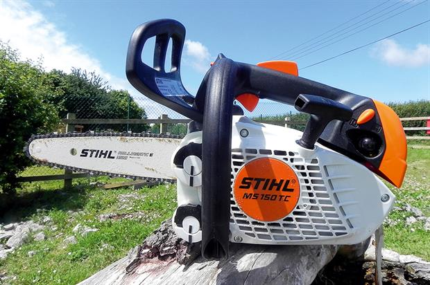 STIHL MS 150 T-CE chainsaw - image:HW