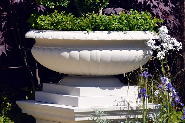 Orleans bowl: stylish planter from Haddonstone adapted from the Fontainebleau Urn - image: Haddonstone