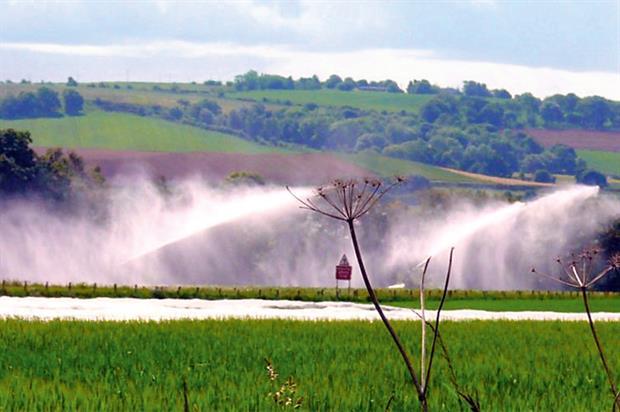 Spray irrigation: major impact
