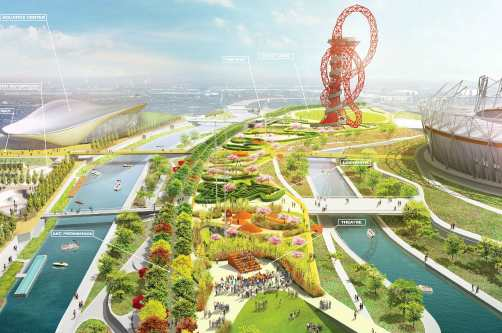 Overview of the Pleasure Gardens plans for the Olympic Park - image: ODA