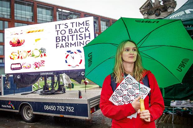 Back British Farming: NFU staff raising awareness in Manchester - image: © Richard Lee Photography
