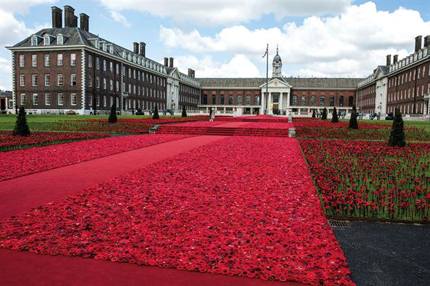 5000 Poppies at RHS Chelsea Flower Show 2016 - image: HW