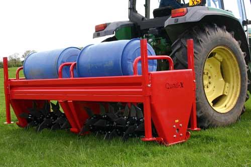 The Quad-X tractor-mounted aerator - image: Quad-X