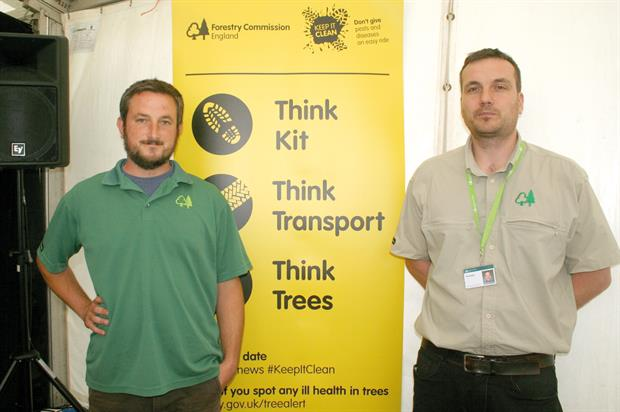 Keep it Clean: campaign promoted by Roberts (left) while Biddle (right) gave update on work to counter tree pests - image: HW