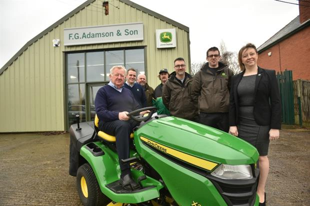 L-R Dealer principal John Adamson (Snr) with team- Steve Blanchard,  Fran Firth, Tim Holden, Darren Lunn, Carl Dannatt & Gillian Jenkins. Image: Supplied