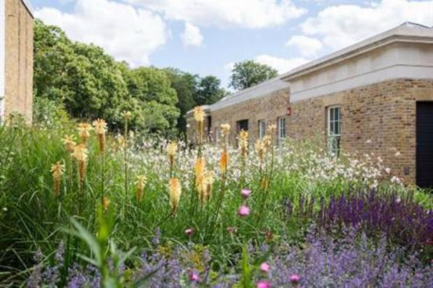 Arabella Lennox-Boyd's garden at the Serpentine Sackler Gallery in Kensington Gardens. Copyright Luke Hayes