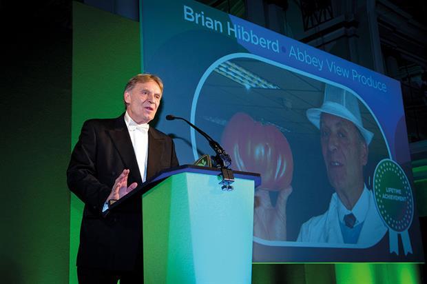Lifetime Achievement Award - Winner Brian Hibberd, Abbey View Produce