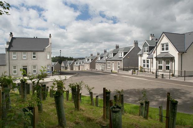 Barratt's Castewell development in Aberdeenshire. Image: Barratt Developments