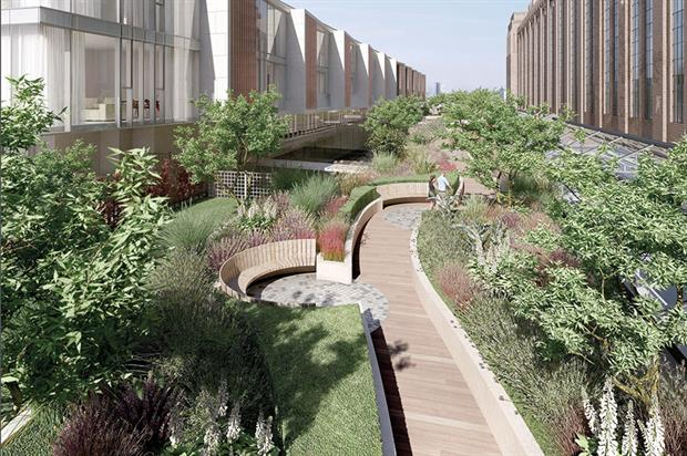 Battersea Power Station: Andy Sturgeon has been working on three high-spec roof gardens for the redevelopment - image: Andy Sturgeon