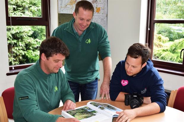 L-R: Dan Luscombe, John Allen and Luke Wallace. Image: Forestry Commission