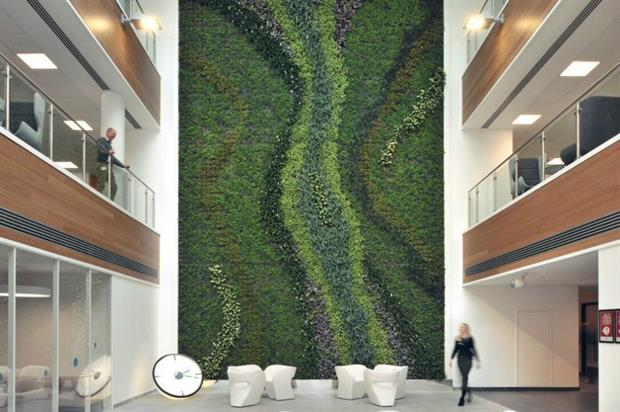Biotecture has designed an inside green wall for the project. Image: BRE