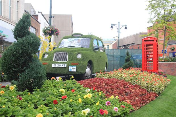 Oldham's town centre display. Image: Supplied