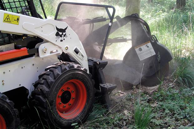 Bob-Cat: has stump grinders that attach to wheeled and tracked skid-steer loaders (credit: Bob-Cat)