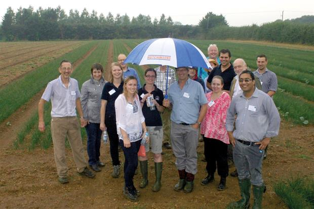 Field day was attended by key figures from the herb growing industry