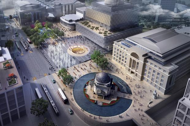 Broadway Malyan won the People's Choice Award for its redesign of Birmingham's Centenary Square. Image: Supplied