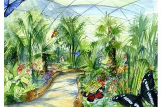 Artist's impression of the Butterfly Dome. Image: Supplied