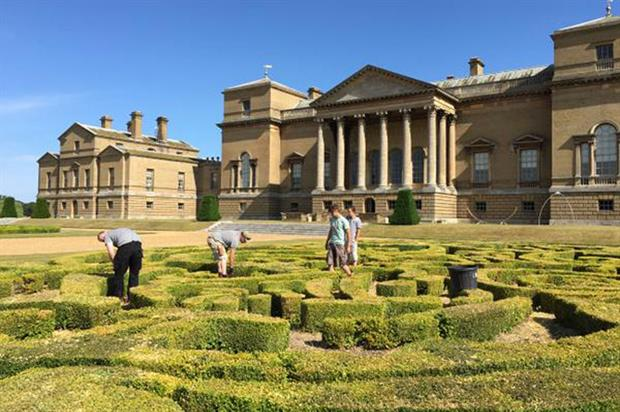 Writtle College students working at Holkham Hall