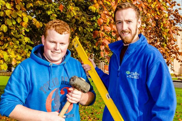 CAFRE students Shea McFerran (left) and Jonathan Long are among the finalists