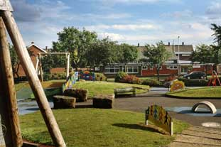 Parklife's design for The Green, part of Channel 4's Castleford documentary - photo: Channel 4